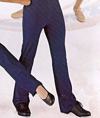 NWT Bootcut Satin Spandex NAVY Jazz Pants Wolff Fording Men's size Small