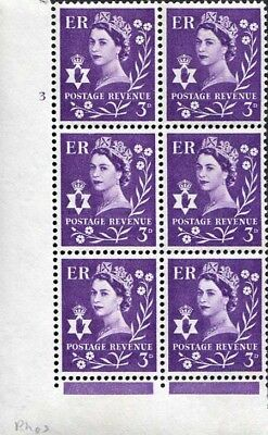 XN3 3d Deep Lilac Crowns Wmk Cylinder 3 No Dot U/M Block 6
