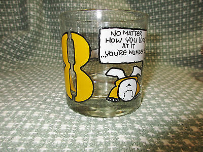 Ziggy Rocks Glass, #8, No Matter How You Look at It...You're Number 8