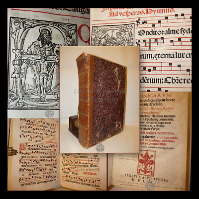 MUSICA - ANTIFONARIO ANTIPHONARIUM DOMINICARUM 1572 Venezia Incisioni, 331 carte