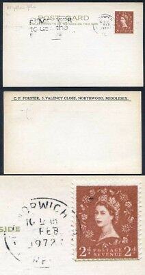 ST5(4) 2d Dollis Hill Yellow AOP on Postcard with Trial Cancel