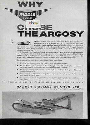 Riddle Airlines Of Miami Why We Chose Hawker Siddeley Argosy 650 Freighter Ad