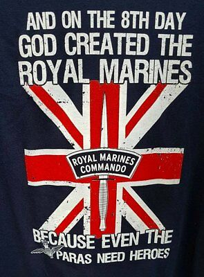 And On The 8Th Day God Created The Royal Marines Car Sticker - Inside Or Out