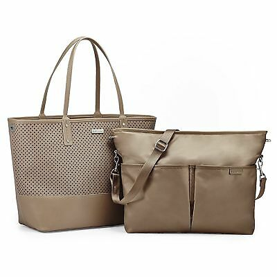 Skip Hop Duet 2 in 1 Diaper Tote, Taupe, Brand New With Tags NEW