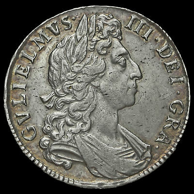 1698 William III Early Milled Silver Decimo Half Crown