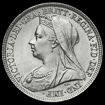 1898 Queen Victoria Veiled Head Silver Shilling, G/EF