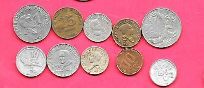 Philippines 10 Diff Different 1970-1993  Coin Lot Collection Set Inc Old & Large