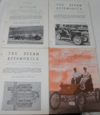 4 issues The Steam Automobile Club of America Magazine Brochure 1959-1962 cars