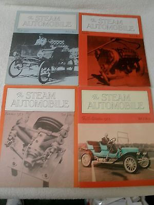 4 issues The Steam Automobile Club of America Magazine Brochure 1962 1963 cars