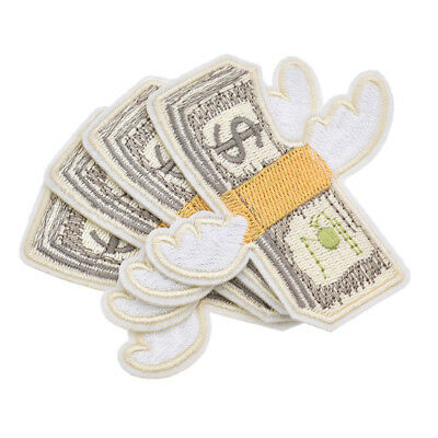 4 Pcs Fly Wing Money Embroidered Iron On Applique Badge Patches DIY Sewing Cloth