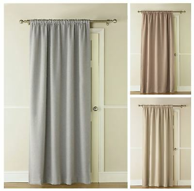 Linea Thermal Blackout Door Curtains, Ready Made Door Curtain, 130 x 213cm