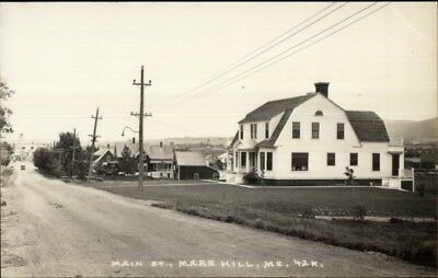 Mars Hill ME Main St.  1950s-60s Real Photo Postcard #2