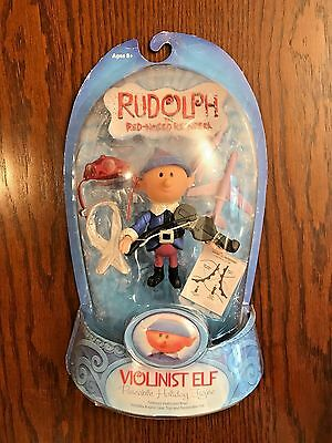 Round 2 Rudolph the Red Nosed Reindeer – Violinist Elf Figure, NRFB