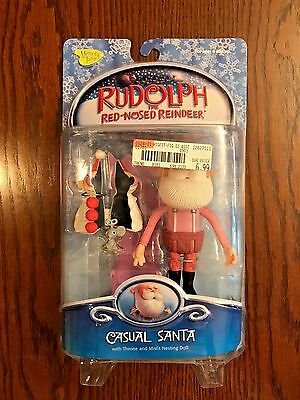 Memory Lane Rudolph the Red Nosed Reindeer – Casual Santa Figure, NRFB