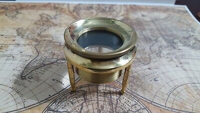 Nautical Vintage Antique Magnifier Map reader in Leather case