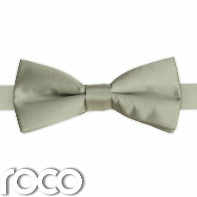 Boys Mint Green Banded Dickie Bow Tie Wedding Prom Page Boy Dickie Bows