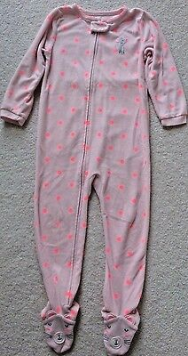 Carter's Pink with Mouse 1 Piece Pajama Size 4T