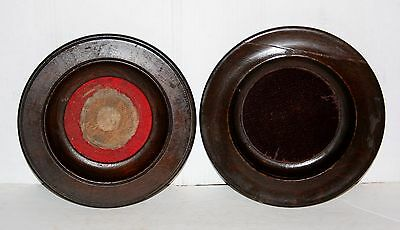 (2) Vintage Wooden Church Offering Collection Plates Refinish Repurpose Etc.