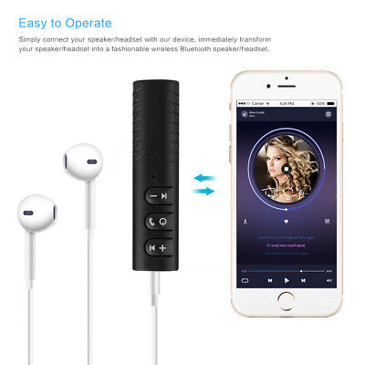 3.5mm Wireless Bluetooth Jack Audio Receiver Adapter AUX For Speaker Headphone