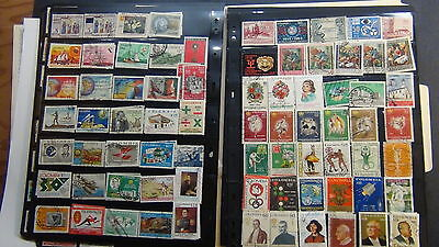 Colombia  stamp collection on Minkus pages to  '89, + stock, etc