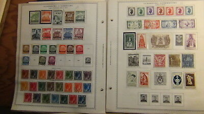 Luxembourg stamp collection on Minkus pages to '89
