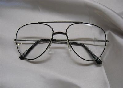 readers aviators pilots free shipping New Reading Glasses +1.00 Diop Bk Fr Clear