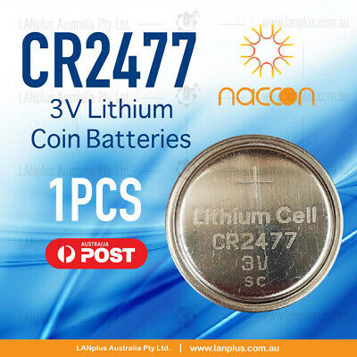 1x CR2477 3V Lithium Batteries STOCK IN Melbourne Button Coin CR-2477 CR2477/BN
