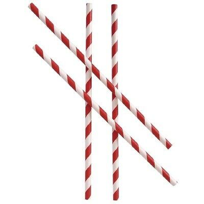 Regular Paper Straw Red & White Stripes (Pack of 250) BARGAIN
