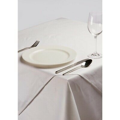 White Square Polycotton Tablecloth 35in BARGAIN