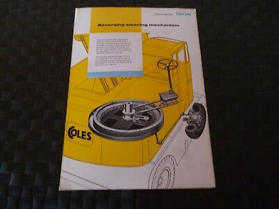 Coles Reversing Steering Mechanism Technical Data Ref. 1906 Leaflet *read*