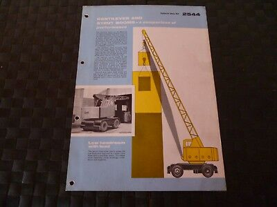 Coles Cantilever & Strut Booms Technical Data Ref. 2544 1958 Leaflet *read*