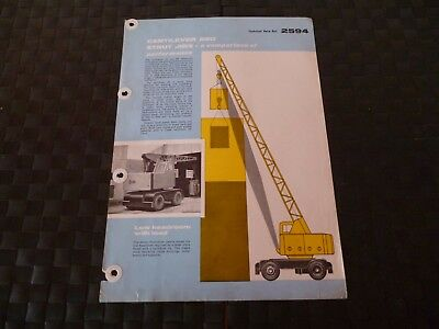 Coles Cantilever & Strut Jibs Technical Data Ref. 2594 1958 Leaflet *read*