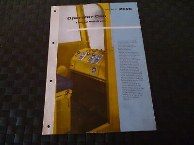 Coles Crane Operator Cab Technical Data Ref. 2505 1958 Leaflet/pamphlet *read*