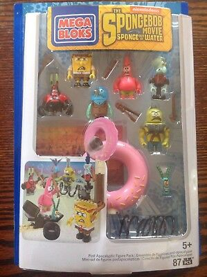 Mega Bloks Toy - SpongeBob Square Pants Playset Post Apocalypse 7 Figure Pack