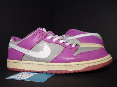 new style d6a81 ac6dd 2002 Nike SB DUNK LOW PRO MAGENTA WHITE VIOLA GREY 302517-011 12 10.5