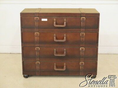 28168E:  Decorative Leather Wrapped Suitcase Design Chest