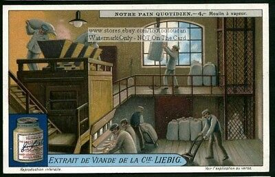 Bagging Bread Wheat Flour Mill  Moulin A Vapeur 1920s Trade Ad Card