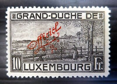 LUXEMBOURG 1922 - 10fr Official Mounted Mint NB3081