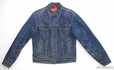 LEVIS Vintage DENIM JACKET 80's Flannel Lined Size 38 JK 63