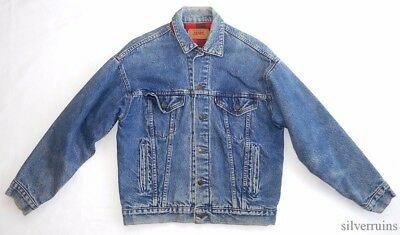 LEVIS Vintage DENIM JACKET 80's Flannel Lined SMALL JK 64