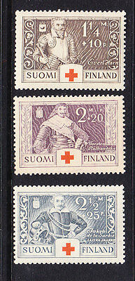 Finland Red Cross 1934 set 299/301   Mint Light Hinged