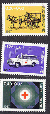 Finland Red Cross 1967 set 730/32 Mint  Never Hinged