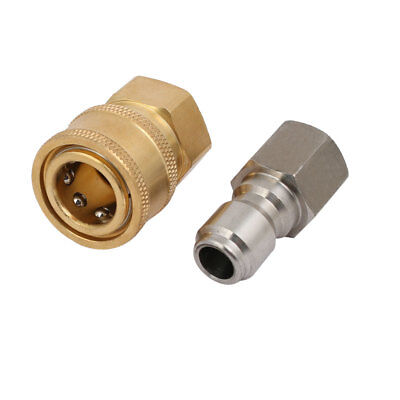 3/8BSP Female Thread Quick-Disconnect Pressure Pipe Quick Washer Adapter Set