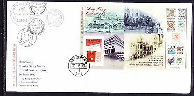 Hong Kong 1997 Classic #10 MS  First Day Cover