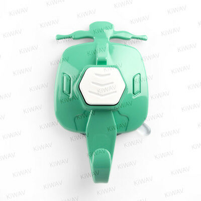 KiWAV colourful scooter suction cup hanger - Cyan with white button