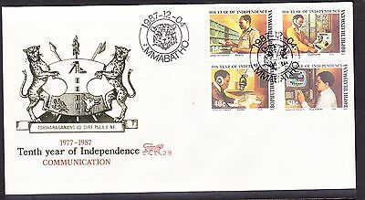 Bophuthatswana 1987 Communications First Day Cover - Unaddressed #2.9