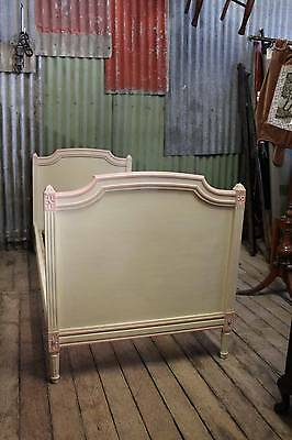 A Gorgeous French White & Pink Single Bed - Shabby Chic