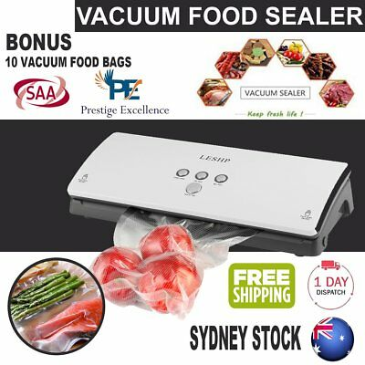 Food Vacuum Sealer Machine System Saver Preserve Storage Bags Vacuum Food HM