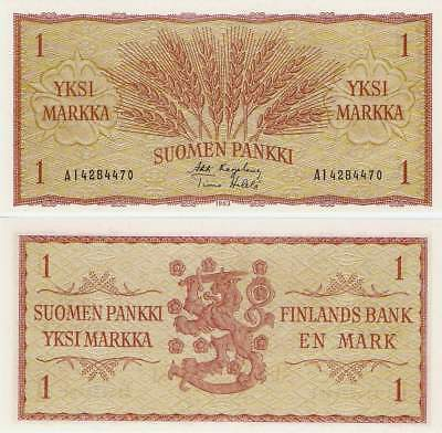 P98a  Finland   1 Marka 1963 Sign 23   UNC
