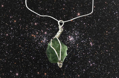 Gorgeous Moldavite Necklace - A Stunning Mysterious Piece Of Jewellery